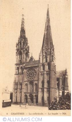 Image #1 of Chartres - The Cathedral - La Cathédrale - The facade (8)