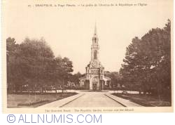 Image #1 of Deauville - The flowered Beach - The Republic Garden Avenue and the Church (La Plage Fleurie – Le Jardin de l'Avenue de la République et l'Eglise)