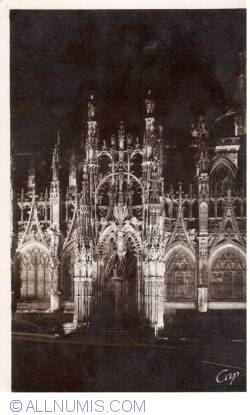 Image #2 of Louviers - Notre-Dame church south facade at night 51