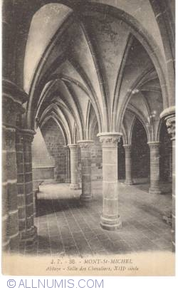 Image #2 of Mont Saint-Michel - The Abbey - Knights Hall, sec. XIII (38)