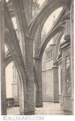 Mont Saint-Michel - The Abbey - Les arcs buttresses (71)