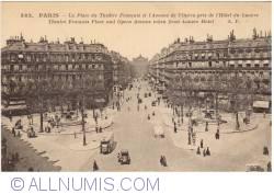 Imaginea #1 a Paris - Piața Teatrului Francez și Bulevardul Operei văzute dinspre Hotel  Louvre (La Place du Théâtre Français et l'Avenue de l'Opera pris de l'Hotel du Louvre)