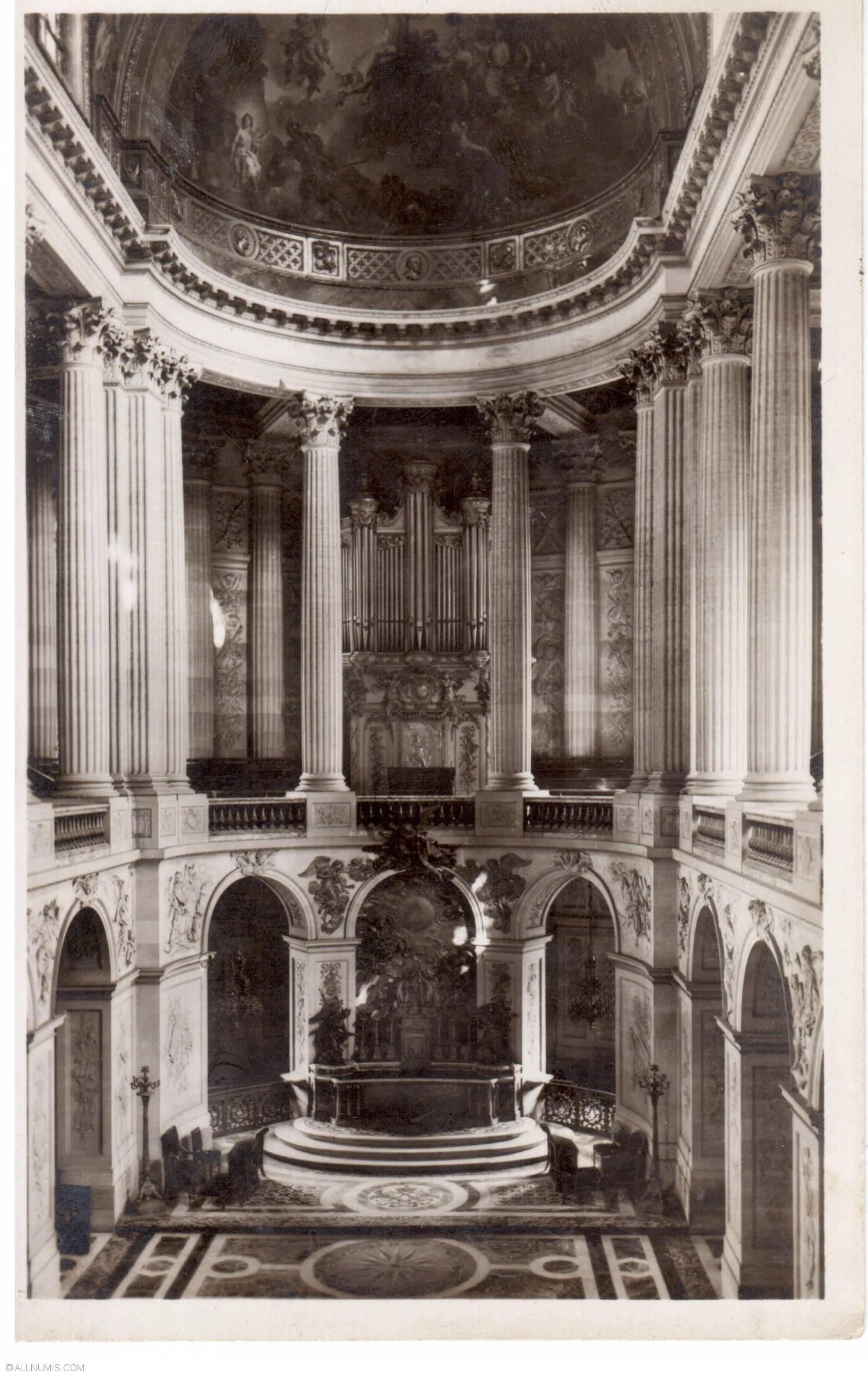 Versailles - The interior of the Chape (L\'Interieur de la Chapel ...