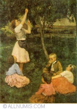 Image #1 of Budapest - Hungarian National Gallery - Glatz Oszkar - Children picking fruit