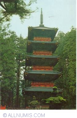 Image #1 of Nikkō - Five Storied Pagoda from Toshogu Shrine