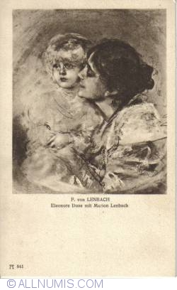 Image #1 of F. von Lenbach - Eleonore Duse and Marion Lenbach