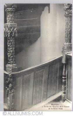 Imaginea #2 a MERLAIX - 3e partie de l'escalier de la maison de la Reine Anne