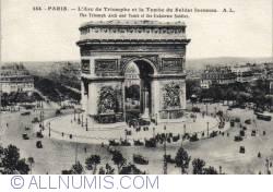Imaginea #2 a Paris - Arcul de Triumf şi Monumentul Soldatului Necunoscut - L'Arc de Triomphe et la Tombe du Soldat Inconnu