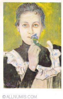 Image #1 of Stanisław Wyspiański - Girl with Violets