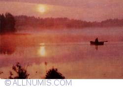 Image #1 of Arkhangelsk - sunset on a fishing boat on a lake - BELOMORIE 1973