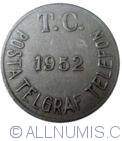 Image #2 of Turkey post-telegraph-telephone token