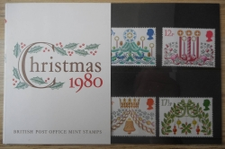 Christmas 1980 - British Post Office Mint Stamps