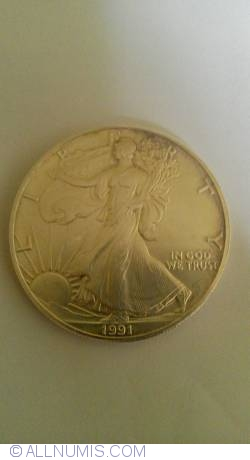 Image #2 of 1 Dollar 1991