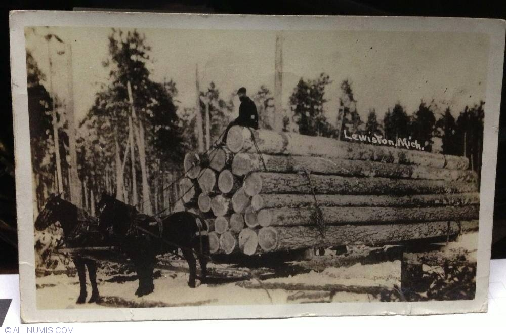 Logging Sled http://www.allnumis.com/postcard/united-states-of-america/logging-sled-lewiston-michigan-14202