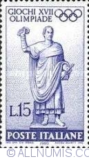 Image #1 of 15 Lire 1960 - Statue
