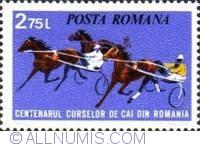 2,75 lei 1974 - Centenarul curselor de cai din România