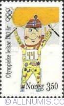 Imaginea #1 a 3,50 Kroner 1996 - Skiing
