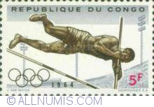 Image #1 of 5 Francs 1964 - Pole vault