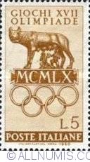 Image #1 of 5 Lire 1960 - Lupoaica cu Remus si Romulus