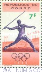 Image #1 of 7 Francs 1964 - Javelin throwing