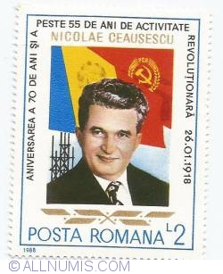 Imaginea #1 a 2 lei - Nicolae Ceausescu