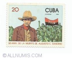 Image #1 of 20 Centavos - 50 Aniv. de la muerte de Augusto C. Sandino