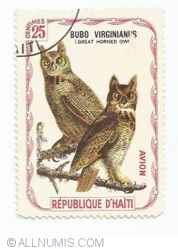 Image #1 of 25 Centimes - Great horned owl