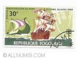 Image #1 of 30 franci - Viking Ship and Portuguese Brigantine