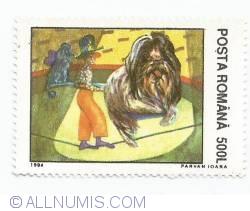 500 Lei - Circ - Acrobat cu câini