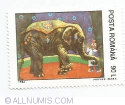 90 Lei - Circ - Elefant