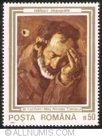 50 Bani 1990 - Mos Nicolae Cobzarul de Stefan Luchian