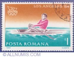 1 Leu 1984 - Jocurile Olimpice - Los Angeles '84 - Canotaj