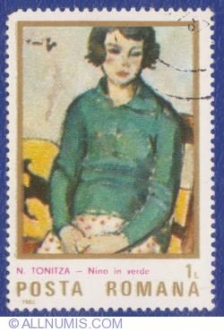 1 Leu -  N. Tonitza - Nina în verde