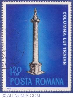 1,20 Lei - Anul european al ocrotirii monumentelor - Columna lui Traian