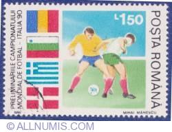 1,50 Lei 1990 - Preliminariile Campionatului mondial de fotbal - Italia '90