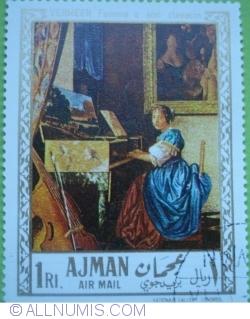 Image #1 of 1 Riyal 1968 - Vermeer - Femeie sezând la un clavecin
