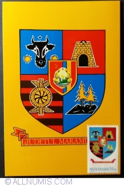 The coats of arms of Maramureș County