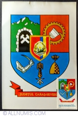 The emblem of Caraș-Severin County