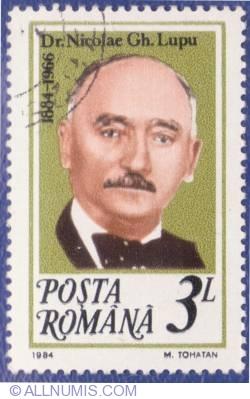 3 Lei - Dr. Nicolae Gh. Lupu (1884-1966)