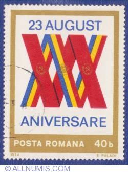 40 Bani 1974 - 30 de ani de la Insurecţia din 23 august 1944