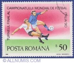 50 Bani 1990 - Campionatul mondial de fotbal - Italia '90 - Turneul final