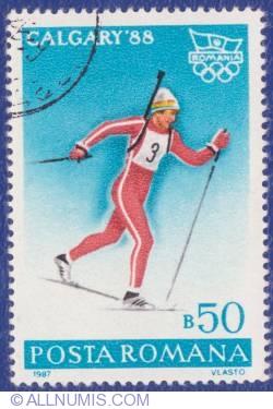 50 Bani - Biatlon