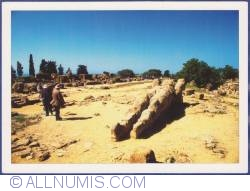Agrigento (Sicily) - The Valley of the Temples - Ruins of the Temple of Zeus and the Telamon