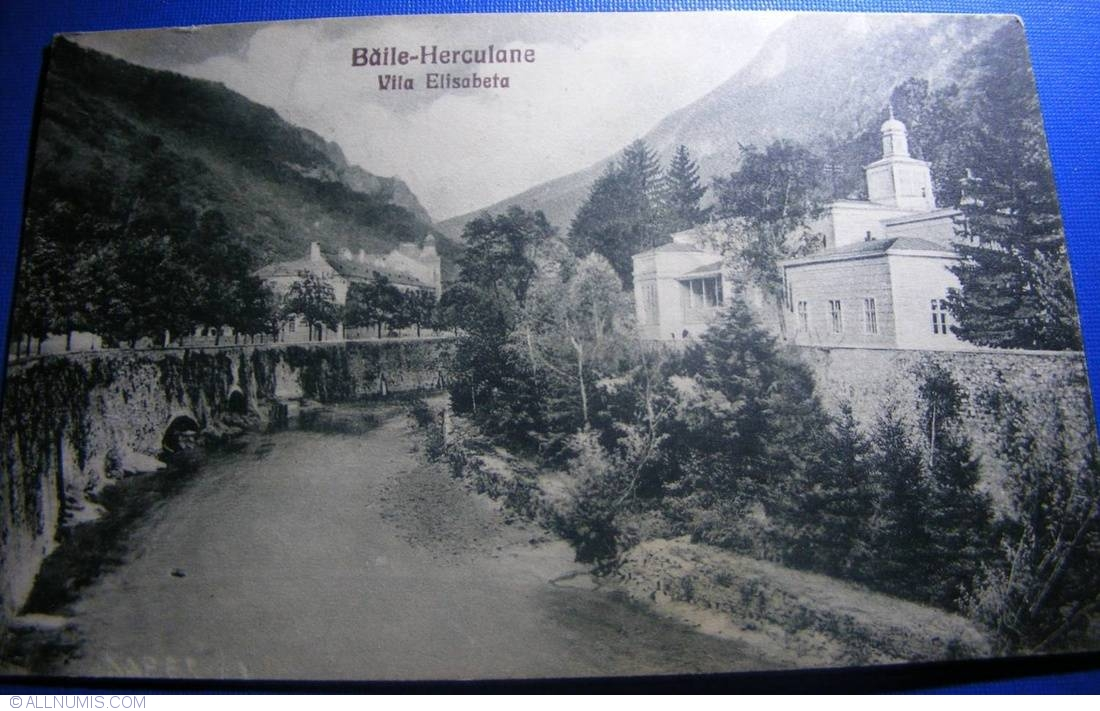Băile Herculane - Vila Elisabeta (1930), Băile Herculane - Romania - Carte poștală - 25090