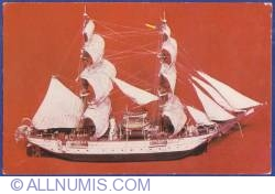 """Image #1 of Romanian Navy Museum - The brig """"Mircea"""", the first sailing and motor training ship of the Romanian sea service. 1882 (model)"""