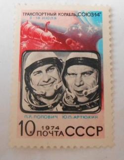 Image #1 of 10 Copeici - Soiuz-14 - Cosmonauts P.R. Popovitsh and Ju.P. Artjuchin