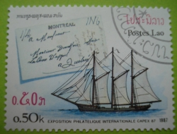 Image #1 of 0.50 Kip - exposition philatelique internationale capex 87