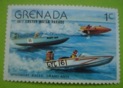 Image #1 of 1 Cent 1977 - Speedboat Races
