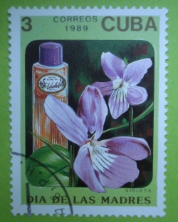 Image #1 of 3 Centavos 1989 - Violeta