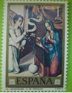 Image #1 of 1 Peseta - Luis de Morales - La Anunciacion